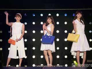 E-girls藤井夏恋、楓、佐藤晴美が豪華集結ランウェイ キュートなキス顔に大歓声