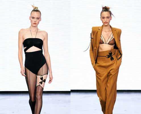 ロンドン・ファッションウィーク・セプテンバー2021 肌を露出してオプティミスティックに