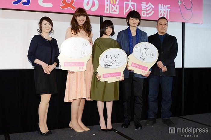 (左から)晴香葉子氏、IVAN、真木よう子、古川雄輝、佐藤祐市監督