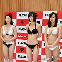安澤美紗、古賀遥奈、足立華 (C)モデルプレス