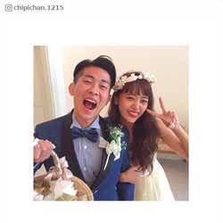 結婚披露宴を行った近藤千尋&ジャンポケ太田夫妻/近藤千尋Instagramより