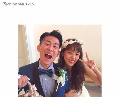 近藤千尋&ジャンポケ太田夫妻が結婚披露宴 モデル&芸人集結で祝福「本当に本当に幸せ」