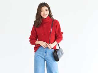 デニム×ニットの冬コーデ22選 シンプルで大人可愛い着こなし方をご紹介!