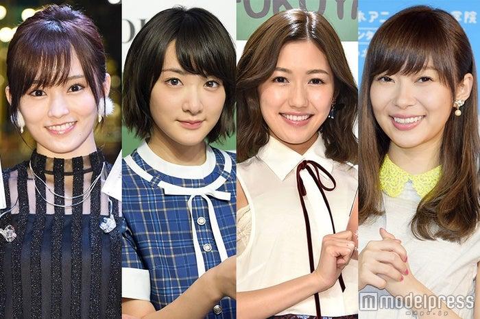 「PERFECT HUMAN」に参加した(左から)山本彩、生駒里奈、渡辺麻友、指原莉乃 (C)モデルプレス