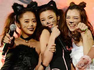 島袋聖南&近藤千尋&初音、エロカワ猫娘でSEXYに魅了 セルフ仮装で観客沸かす<T-SPOOK×TGC>