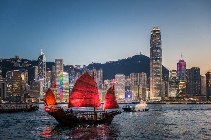 ダックリング号での遊覧/画像提供:香港政府観光局