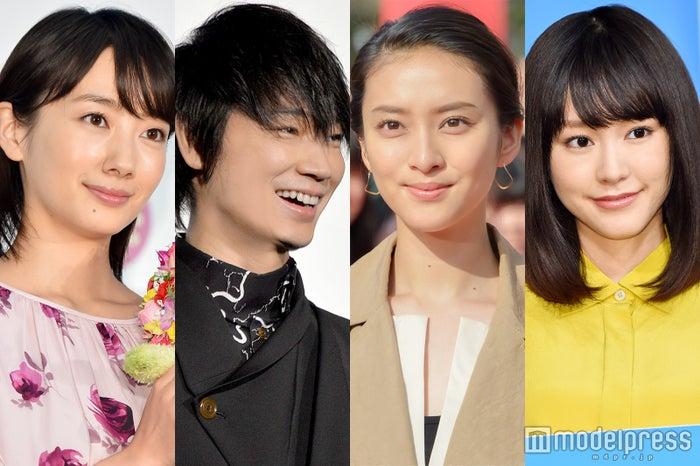 2017年春ドラマに出演する(左から)波瑠、綾野剛、武井咲、桐谷美玲(C)モデルプレス