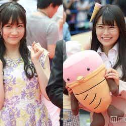 渡辺美優紀の卒業発表について語った(左から)矢倉楓子、白間美瑠(C)モデルプレス