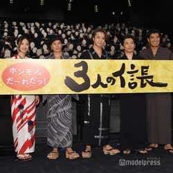 (左から)渡辺啓監督、坂東希、市原隼人、EXILE TAKAHIRO、岡田義徳、高嶋政宏、前田公輝(C)モデルプレス