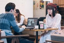 清水尋也、飯豊まりえ/「電影少女」第6話より(C)「電影少女2018」製作委員会