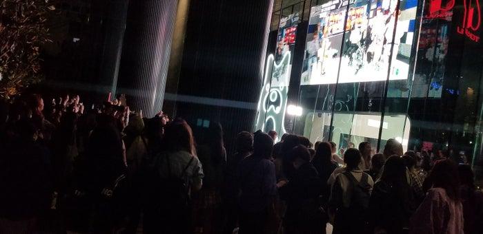 ATEEZの公開生放送を見守るファンの様子(提供写真)