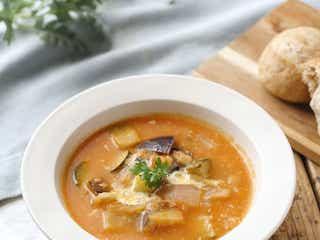 「なすとズッキーニのトマトチーズスープ」レシピ|【365日のパンとスープ】