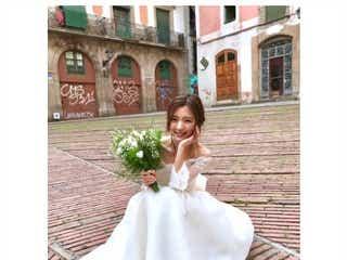真野恵里菜、キュートなウェディングドレスショットに絶賛の声続出