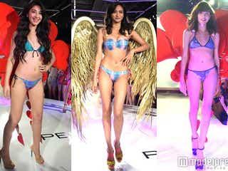 香川沙耶らビキニ美女が一挙集結 美ボディ全開ファッションショーに観客興奮