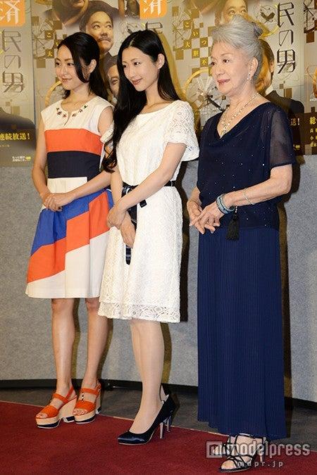 (左から)松浦雅、壇蜜、草笛光子