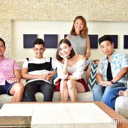 左から:エリック・デ・メンドンサ、澁澤侑哉、ローレン・サイ、エビアン・クー、鮎澤悠介、フランク奈緒美ロレイン(C)モデルプレス