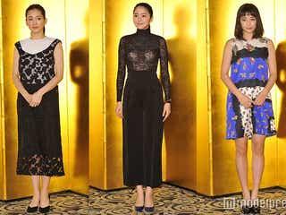 綾瀬はるか&長澤まさみ&広瀬すず、3人3色のドレスアップ<ファッションチェック>