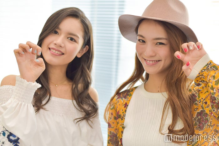 ネイル見せて!(左から)Anly、Leola (C)モデルプレス