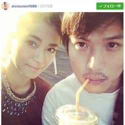 破局を報告した山中美智子(左)&保田賢也選手/山中美智子Instagramより