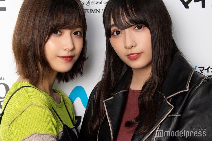 モデルプレスのインタビューに応じた、渡邉理佐&渡辺梨加(C)モデルプレス