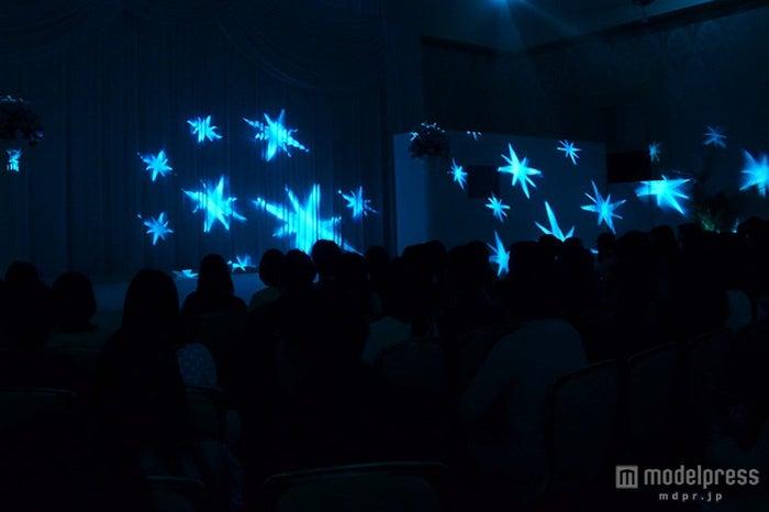 披露宴会場で行うことができる光の演出を披露