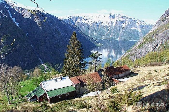 ノルウェーの絶景ハウス/画像提供:テレビ東京