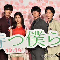 (左から)杉野遥亮、小関裕太、土屋太鳳、北村匠海、磯村勇斗、稲葉友(C)モデルプレス (C)モデルプレス