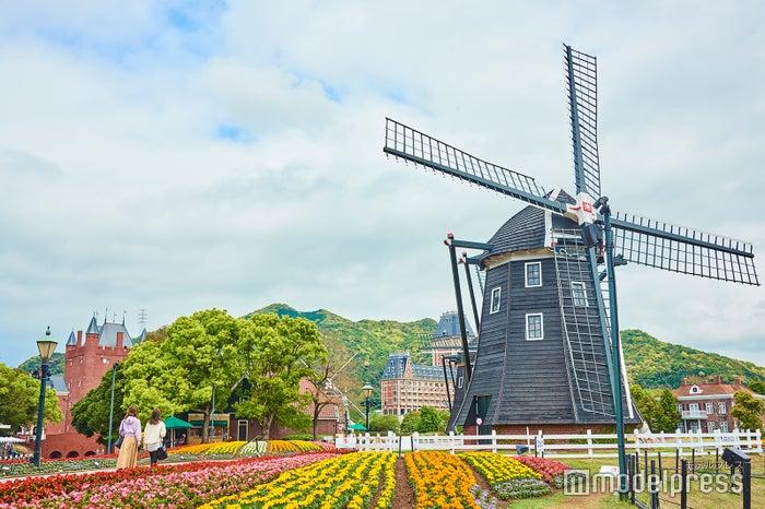 オランダを連想させる風車のある風景(C)モデルプレス