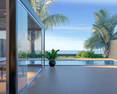 千葉「プライベートオーシャンヴィラ -ヴィラ 藍水-」海を愛でるプール&温泉付き