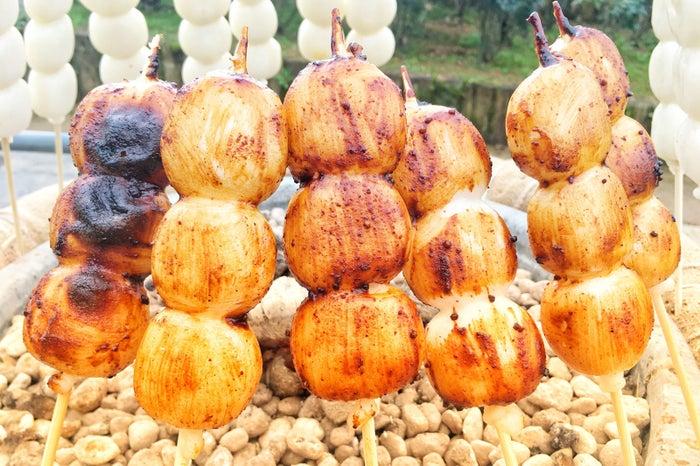 和風カフェ「五湖庵」の名物「焼きだんご」/画像提供:レインボーライン