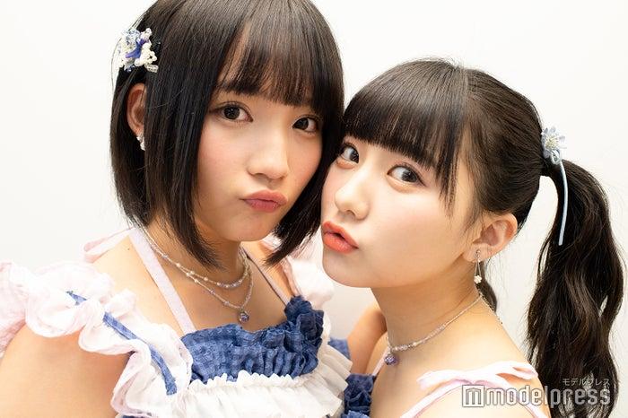 モデルプレスのインタビューに応じた矢作萌夏、田中美久 (C)モデルプレス