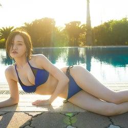 乃木坂46中田花奈、写真集の水着ショット初公開 ボディライン際立つ美しさ<好きなことだけをしていたい>