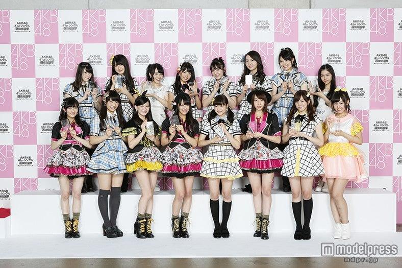 「第7回AKB48選抜総選挙」にて33~48位「ネクストガールズ」入りを果たしたメンバー(C)AKS【モデルプレス】