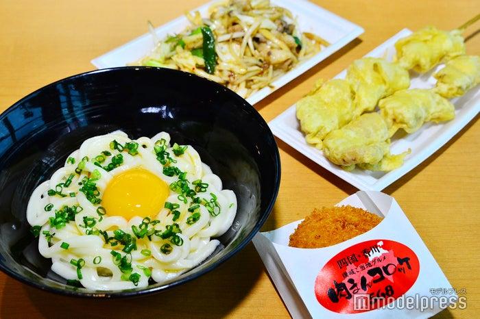 レース前に美味しい香川名物で夕食タイム(C)モデルプレス