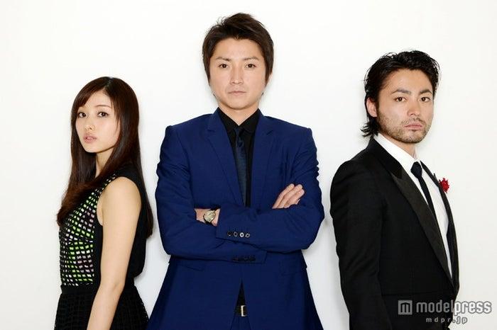 モデルプレスのインタビューに応じた(左より)石原さとみ、藤原竜也、山田孝之