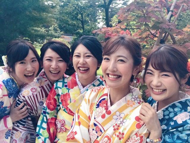 友人が旅行で先に行っている金沢へ、仕事終わりに1日だけ合流!旧友との着物で散策は、幸せな時間☆/小澤陽子アナウンサー(提供写真)