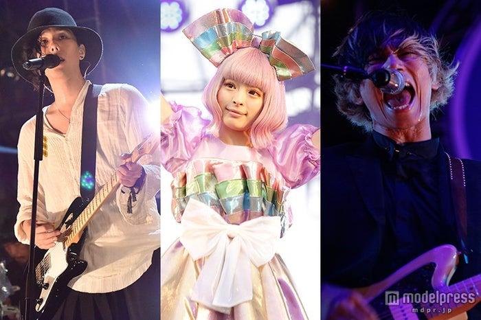 個性溢れるステージで観客と一体になった(左から)野田洋次郎(RADWIMPS)、きゃりーぱみゅぱみゅ、川上洋平([Alexandros])/(C)SWEET LOVE SHOWER 2015【モデルプレス】