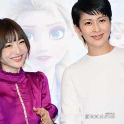 (左から)神田沙也加、松たか子(C)モデルプレス