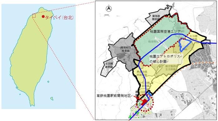 桃園市マップ/画像提供:横浜八景島