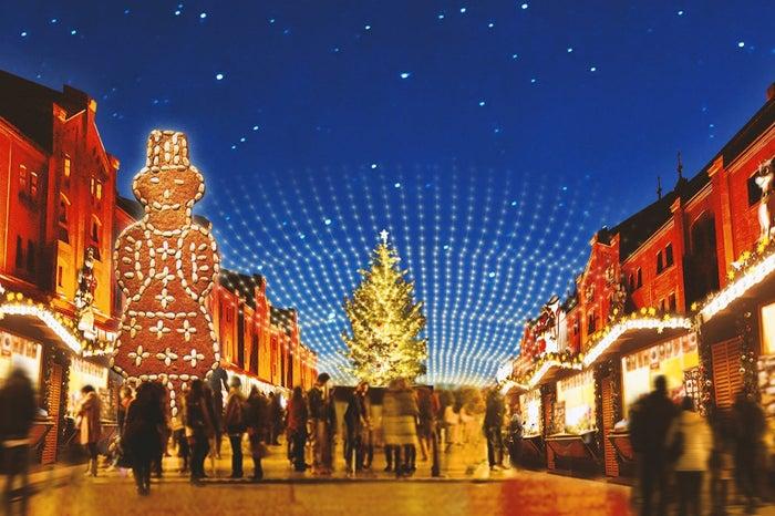 「クリスマスマーケットin 横浜赤レンガ倉庫」今年はドイツの古都アーヘンを再現/画像提供:株式会社 横浜赤レンガ