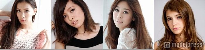 モテパンをデザインした人気モデル(左から:ソンイ、中村瑠璃奈、大桑マイミ、マギー)
