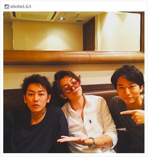 (左から)佐藤健、三浦翔平、浅香航大/三浦翔平Instagramより