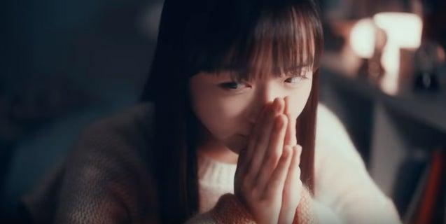内田珠鈴/「LINE」のテレビCM「受験生篇」より(提供写真)