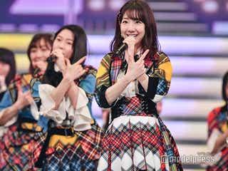 AKB48柏木由紀、指原莉乃の衣装で美脚披露「勝手に借りた」<紅白リハ2日目>
