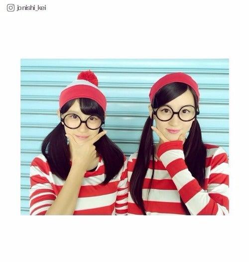 妹・怜(左)とウォーリーに/上西恵Instagramより