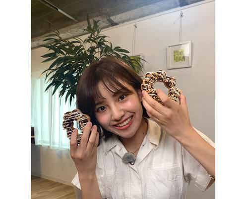 後藤楽々、ZIP!のコーナー撮影でドーナツ両手にパシャり!「メチャクチャ可愛い」