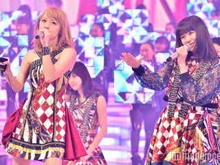 E-girls、ダイヤ柄衣装でガールズダンサーと華やかステージ<紅白リハ最終日>