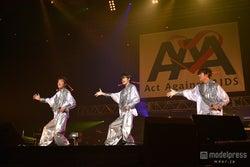三浦春馬、少年隊「仮面舞踏会」でキレキレダンス披露 豪華コラボ連発