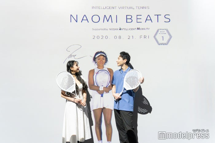 「NAOMI BEATS」では大坂選手と記念撮影も(C)モデルプレス