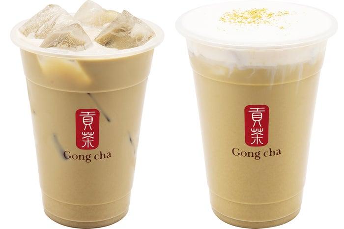 ほうじ茶 ミルクティー/ミルクフォーム(+¥70)/画像提供:ゴンチャ ジャパン